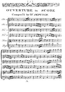 The Beggar's Opera. Overture: The Beggar's Opera. Overture by Johann Christoph Pepusch