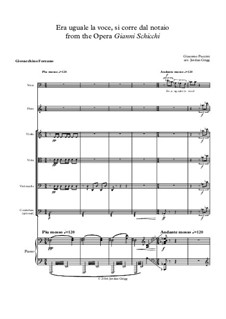 Gianni Schicchi: Era uguale la voce by Giacomo Puccini