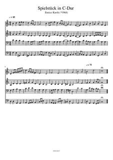 Spielstück in C-Dur: Spielstück in C-Dur by brass1000