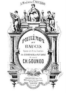 Philémon et Baucis (Philemon and Baucis): Piano score by Charles Gounod