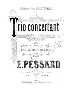 Concert Piano Trio, Op.19: Cello part by Emile Pessard