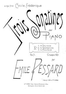 Three Sonatinas for Piano, Op.71: Sonatina No.1 'La souriante' by Emile Pessard