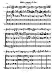 12 Concerti a cinque, Op.1: Concerto No.2 F-Dur - score and parts by Carlo Tessarini