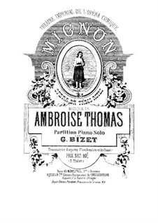 Mignon: For piano by Ambroise Thomas