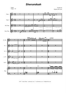 Shenandoah: For flute choir by folklore