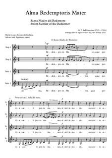 Alma Redemptoris Mater: SSAA by Giovanni da Palestrina