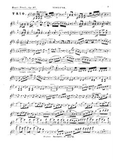 Piano Trio in E Flat Major, Op.27: Violin part by Heinrich Proch