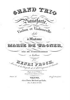Piano Trio in E Flat Major, Op.27: Piano part by Heinrich Proch