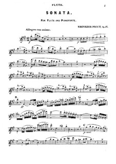 Sonata for Flute and Piano in A Major, Op.17: Solo part by Ebenezer Prout