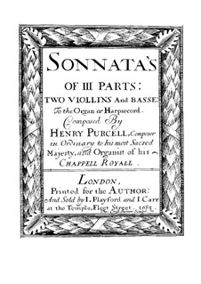 Twelve Trio Sonatas: Complete set, Z.790–801 by Henry Purcell
