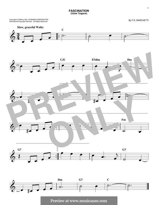 Fascination: Melody line by Fermo Dante Marchetti