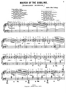 March of the Goblins: For piano by Julie Rivé-King