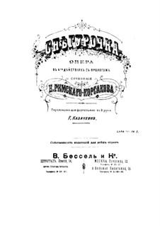 The Snow Maiden: Piano score by Nikolai Rimsky-Korsakov