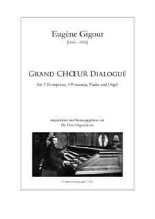 Grand Choeur Dialogué: For wind ensemble by Eugène Gigout