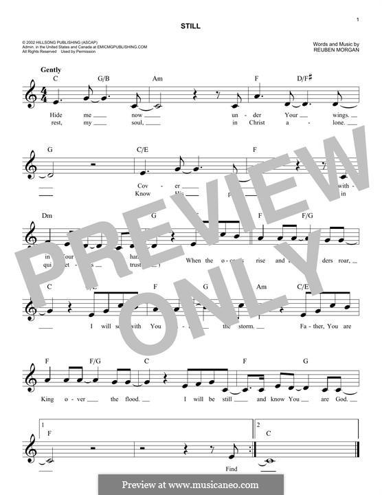 Still: Melody line by Reuben Morgan