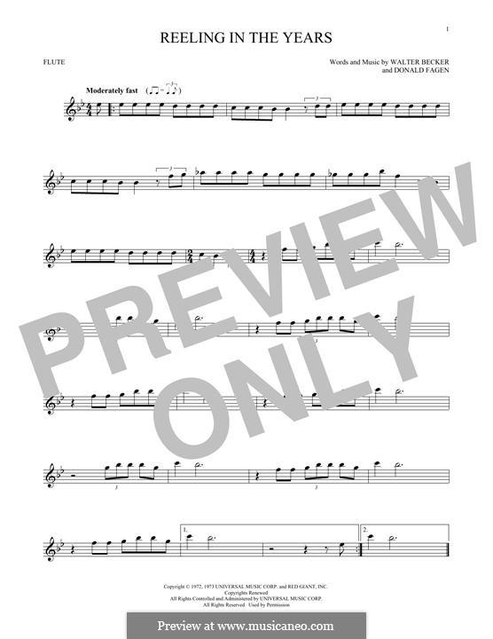 Reelin' in the Years (Steely Dan): For flute by Donald Fagen, Walter Becker