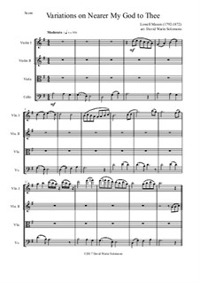 Nearer, My God, To Thee: Variations, for string quartet by Lowell Mason