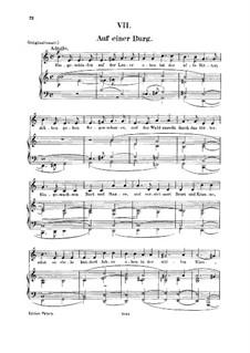No.7 Auf einer Burg (In a Castle): For voice and piano by Robert Schumann