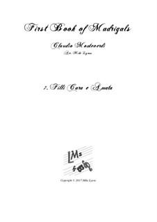Book 1 (a cinque voci), SV 23–39: No.07. Filli cara e amata. Arrangement for quintet instruments by Claudio Monteverdi
