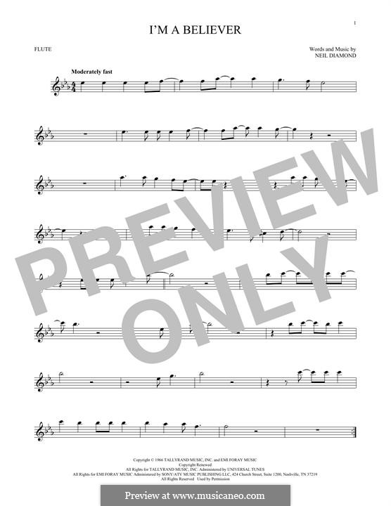 I'm a Believer: For flute by Neil Diamond