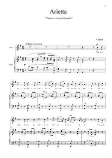 Vanne, o rose Fortunata: G Major by Vincenzo Bellini
