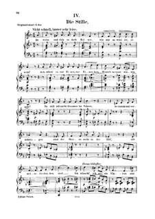 No.4 Die Stille (Stillness): For voice and piano by Robert Schumann