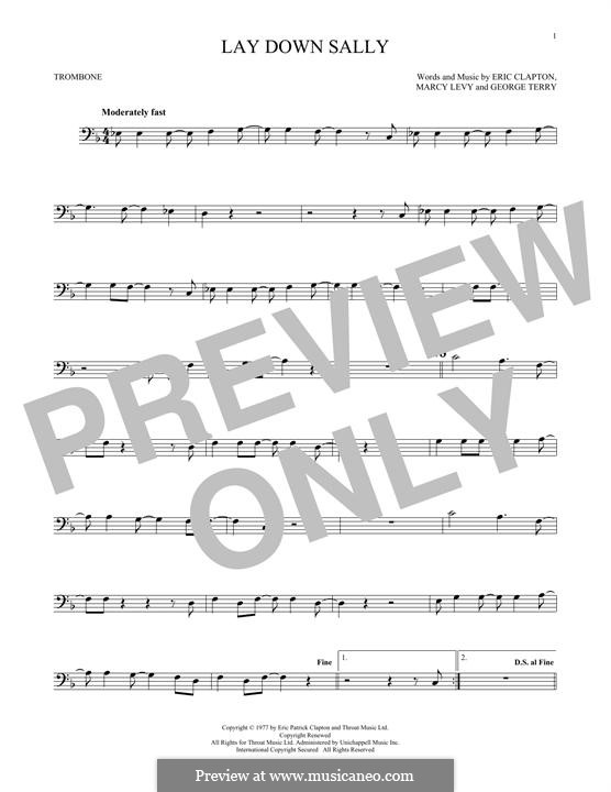 Lay Down Sally: For trombone by George Terry, Marcy Levy