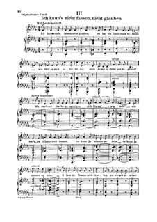 Woman's Love and Life, Op.42: No.3 I Dare Not, Cannot Believe It by Robert Schumann