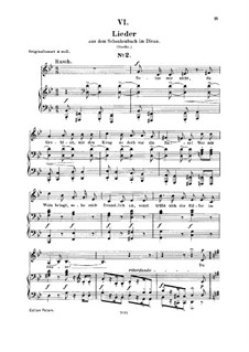 No.6 Setze mir nicht, du Grobian (Chansons à boire): For voice and piano by Robert Schumann