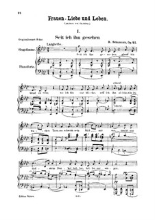 Woman's Love and Life, Op.42: No.1 Since Mine Eyes Beheld Him by Robert Schumann