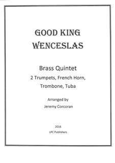 Good King Wenceslas: For brass quintet by folklore