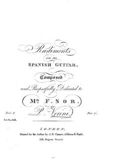 Rudiments for the Spanish Guitar: Rudiments for the Spanish Guitar by Phillipe Raphael Jean Baptiste Verini