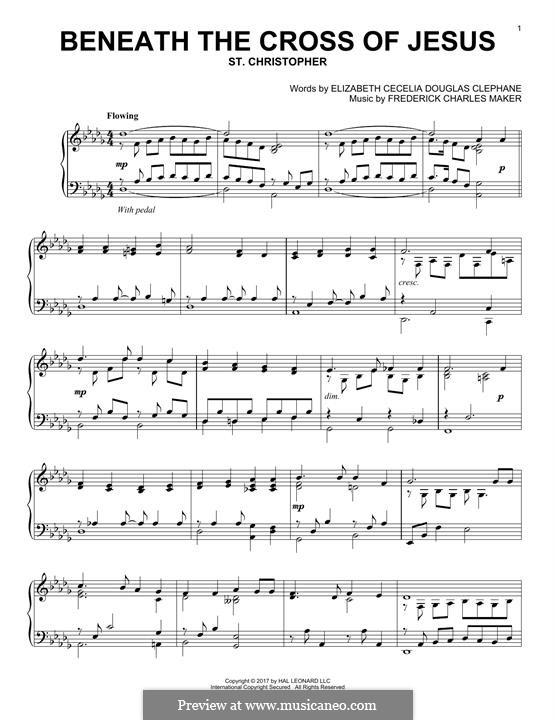Beneath the Cross of Jesus: For piano by Frederick Charles Maker