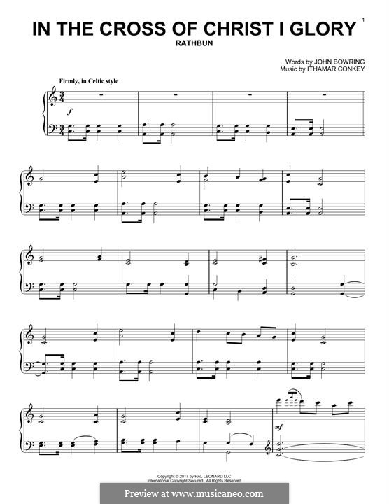 In the Cross of Christ I Glory: For piano by Ithamar Conkey