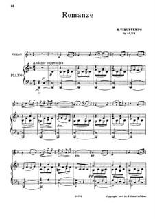 Three Album Leaves, Op.40: No.1 Romance by Henri Vieuxtemps