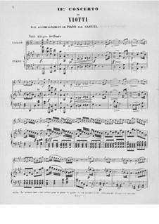 Violin Concerto No.13 in A Major: Version for violin and piano by Giovanni Battista Viotti