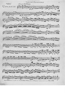 Violin Concerto No.13 in A Major: Version for violin and piano – violin part by Giovanni Battista Viotti