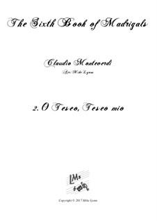 Book 6 (a cinque voci), SV 107-116: No.02 O Teseo, Teseo mio. Arrangement for quintet instruments by Claudio Monteverdi