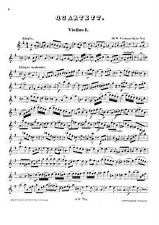 String Quartet in G Major, Op.58 No.2: Violin I part by Wilhelm Valentin Volckmar