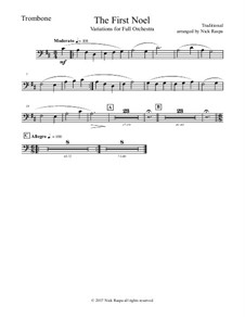 The First Noel. Variations: For full orchestra – trombone part by folklore