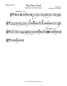 The First Noel. Variations: For full orchestra – horn in F 1 part by folklore