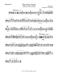 The First Noel. Variations: For full orchestra – bassoon 1 part by folklore