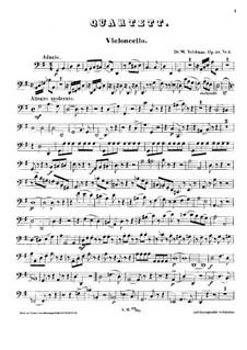 String Quartet in G Major, Op.58 No.2: Cello part by Wilhelm Valentin Volckmar