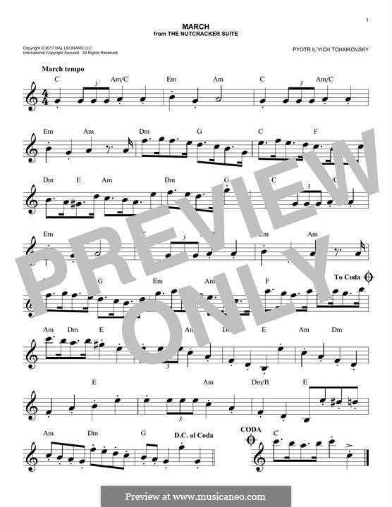 No.2 March: Melody line by Pyotr Tchaikovsky