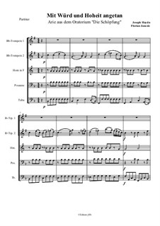 Mit Würd und Hoheit angetan Arie: Für Brass Quintett – Partitur by Joseph Haydn
