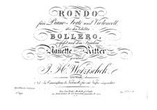 Rondo for Cello (or Violin) and Piano, Op.2: Piano part by Jan Václav Voříšek