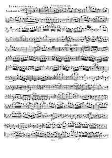 Rondo for Cello (or Violin) and Piano, Op.2: Cello part by Jan Václav Voříšek