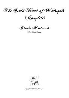 Book 6 (a cinque voci), SV 107-116: Complete score, for wind quintet by Claudio Monteverdi