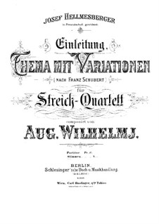Theme and Variations for String Quartet after F. Schubert: Cello part by August Wilhelmj