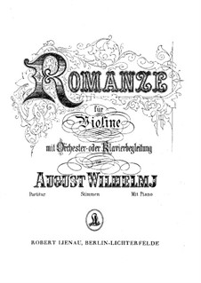 Romance in E Major, Op.10: For violin and piano by August Wilhelmj